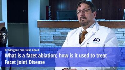 What is a facet ablation how  treat facet joint disease