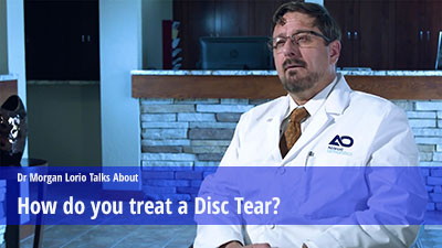 Treat a Disc tear