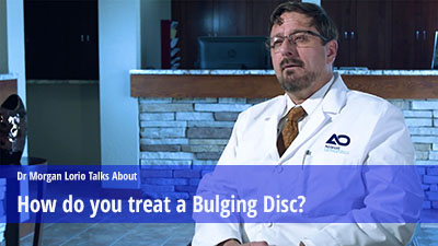 Treating a bulging disc