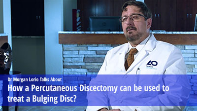 How a Percutaneous Discectomy can treat a bulging disc