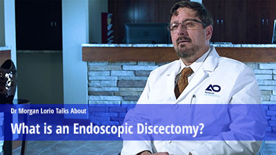 What is an endoscopic discectomy